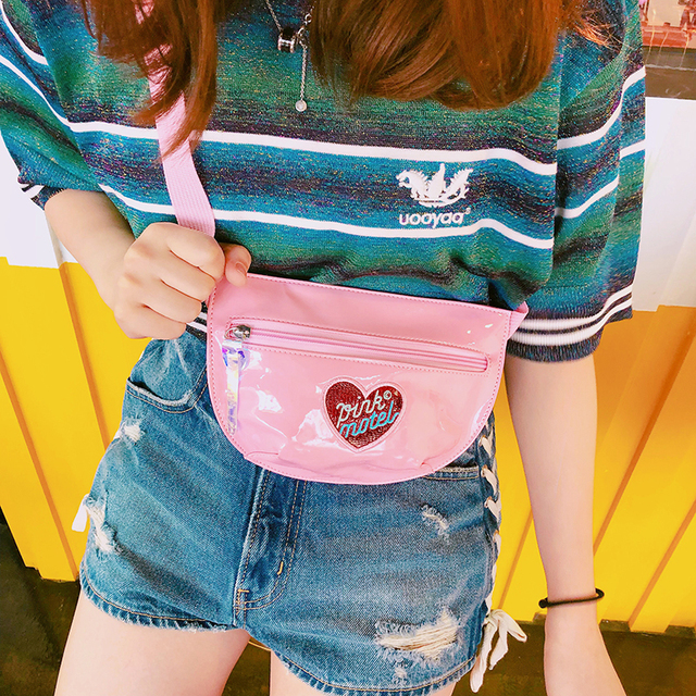 Korean Fashion Women Waist Chest Bag Travel Wallet Fanny Pack Pouch Mobile Phone Money Belly Crossbody Shoulder Bag For Girls