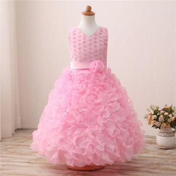 High Quality 2017 Baby Girls First Holy Communion Dress For Wedding Prom Kids Princess Dresses Summer Girls Children clothes