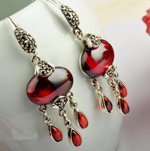 Paragraphs 925 sterling silver women earrings pomegranate Shi Taiyin wholesale
