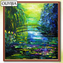 Monet 5D DIY Diamond Famous Painting OUYIJIA Scenery Flowers Embroidery Painting For Sale Picture Of Rhinestone Diamond Mosaic(China)