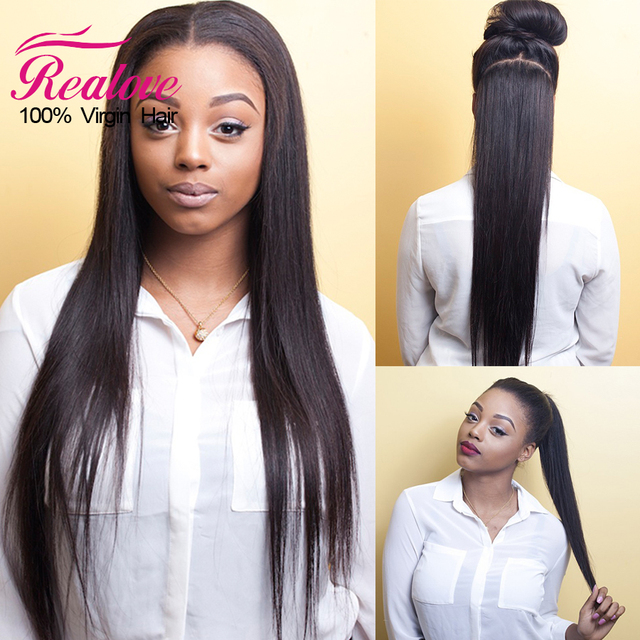 Straight 360 Lace Frontal Wig Pre Plucked 10