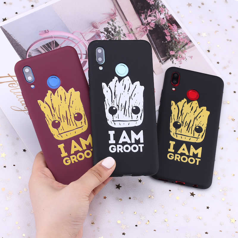 For Xiaomi Mi Redmi Note 5 6 7 8 9 lite Pro Plus Guardians of the Galaxy Groot Cartoon Candy Silicone Phone Case Capa Fundas