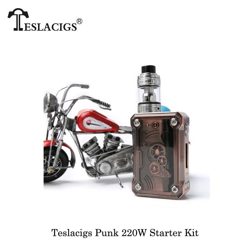 Электронные сигареты TESLACIGS Tesla Punk 220 Вт коробка мод с H8 Sub Ом Танк E8/E2 питание от Двойной 18650 батареи Vape испаритель - 4