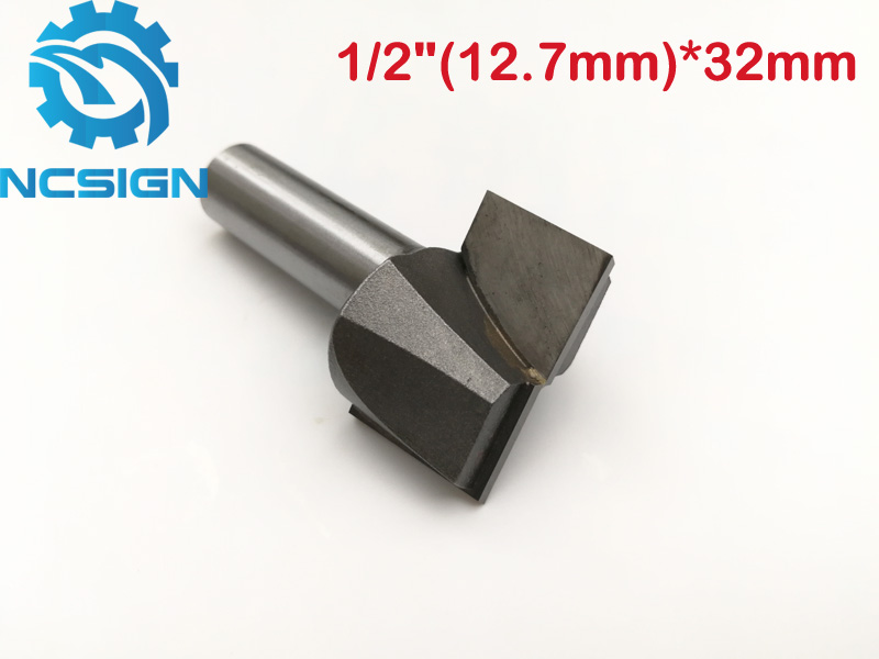 1pc 1/2'' 12.7mm*32mm CNC carbide end mill tool 3D woodworking insert router bit Tungsten Cleaning bottom end milling cutter 16pcs 14 25mm carbide milling cutter router bit buddha ball woodworking tools wooden beads ball blade drills bit molding tool