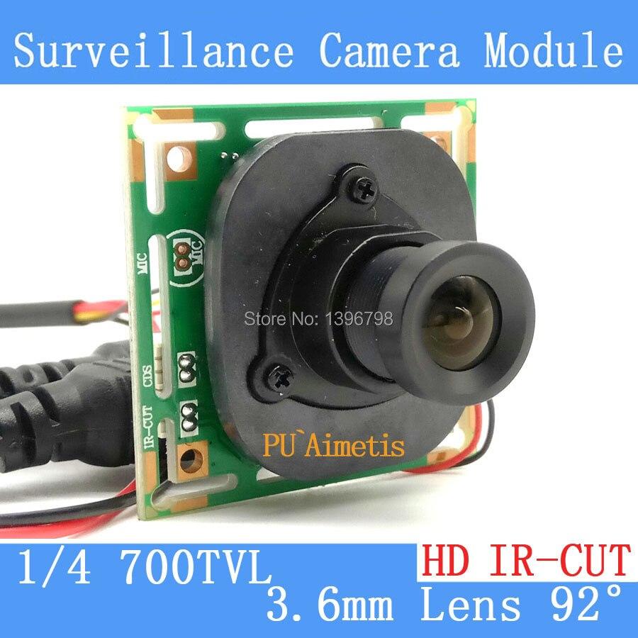 Color HD CMOS 700TVL CCTV Camera Module 3.6mm Lens + PAL or NTSC Optional surveillance cameras IR-CUT dual-filter switch zea afs011 600tvl hd cctv surveillance camera w 36 ir led white pal