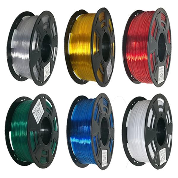 3D Printer PETG Filament PLA Plastic 1.75mm 1kg/Roll for 1.75mm 1kg Plastic Rubber Consumable Material MK8 Extruder Set Prusa I3