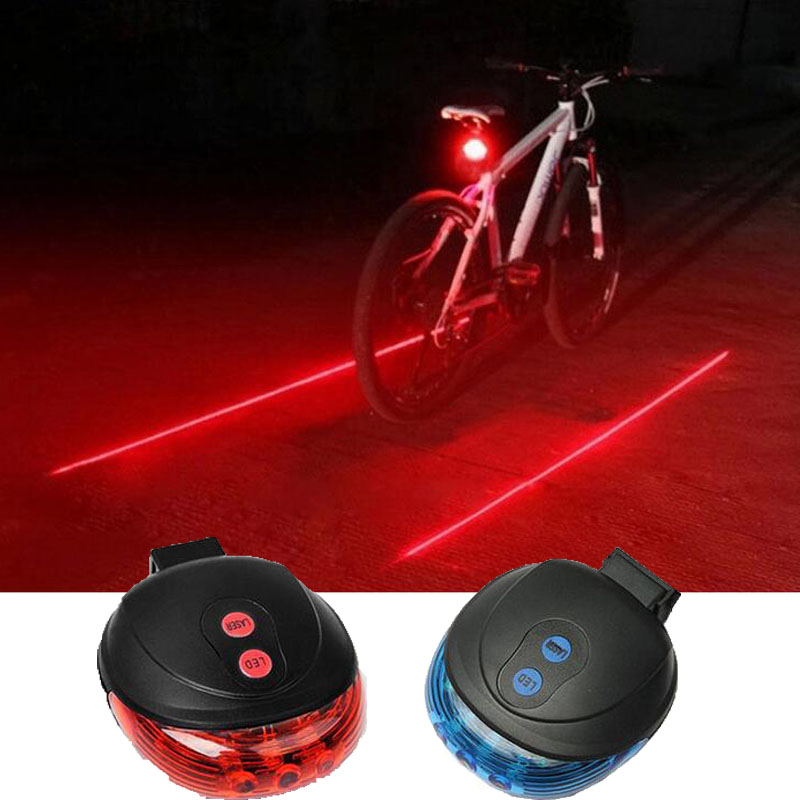 Bike Rear Light 5 LED+2 Laser Flashlight Safety Warning Lamp Tail Rear Light Waterproof Cycling Mountain Bicycle Lamp