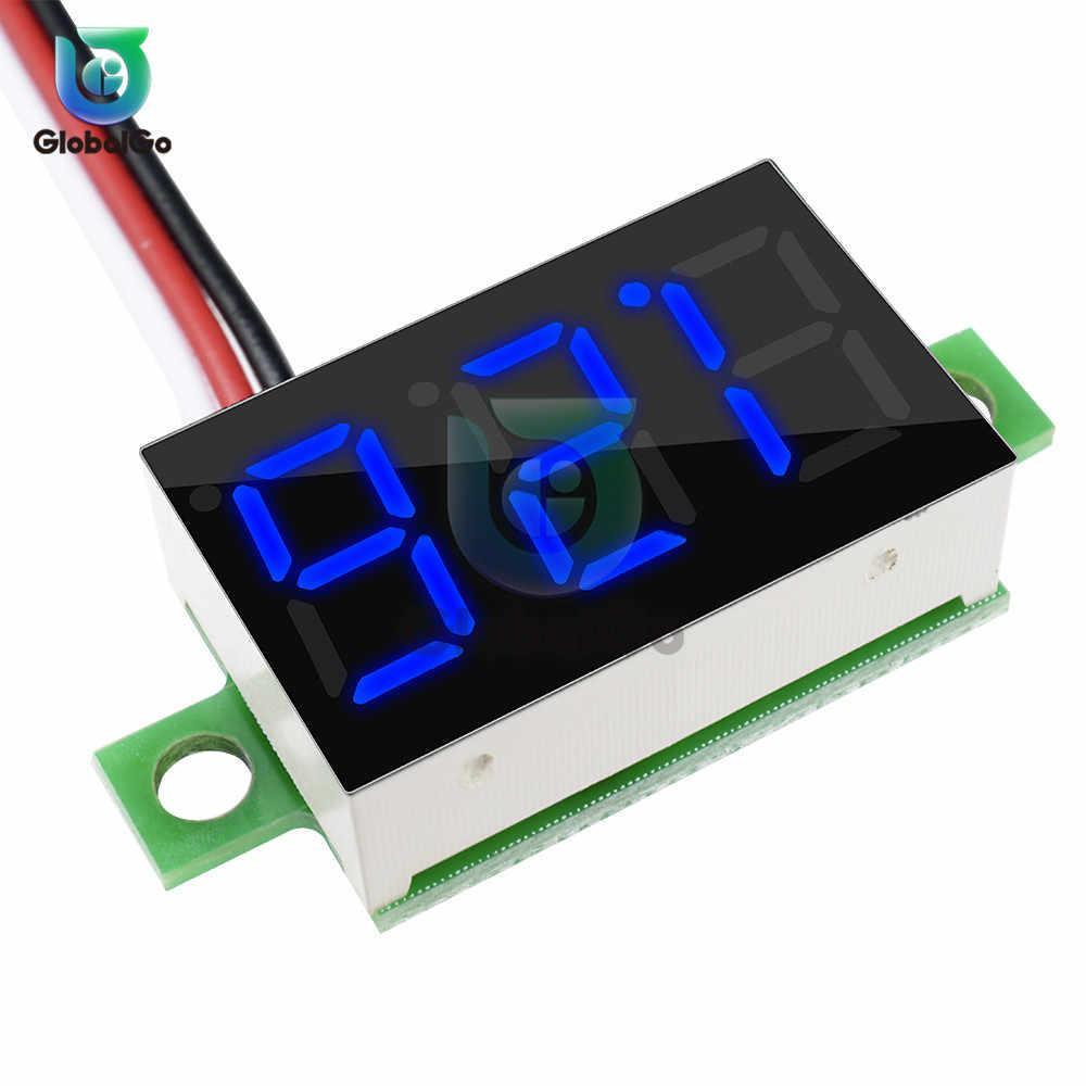 0,36 дюймов 3-проводной Вольтметр DC 0-30 в супер мини светодиодный цифровой автомобильный вольтметр напряжение Вольт Панель метр батарея монитор 3-цифровой