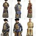 Invierno Diseño Príncipe Hanfu Vestuario Oficial para TV Juego BubuJingxin Dinastía Qing Splendid Bordado Traje Masculino Sólo sin Sombrero