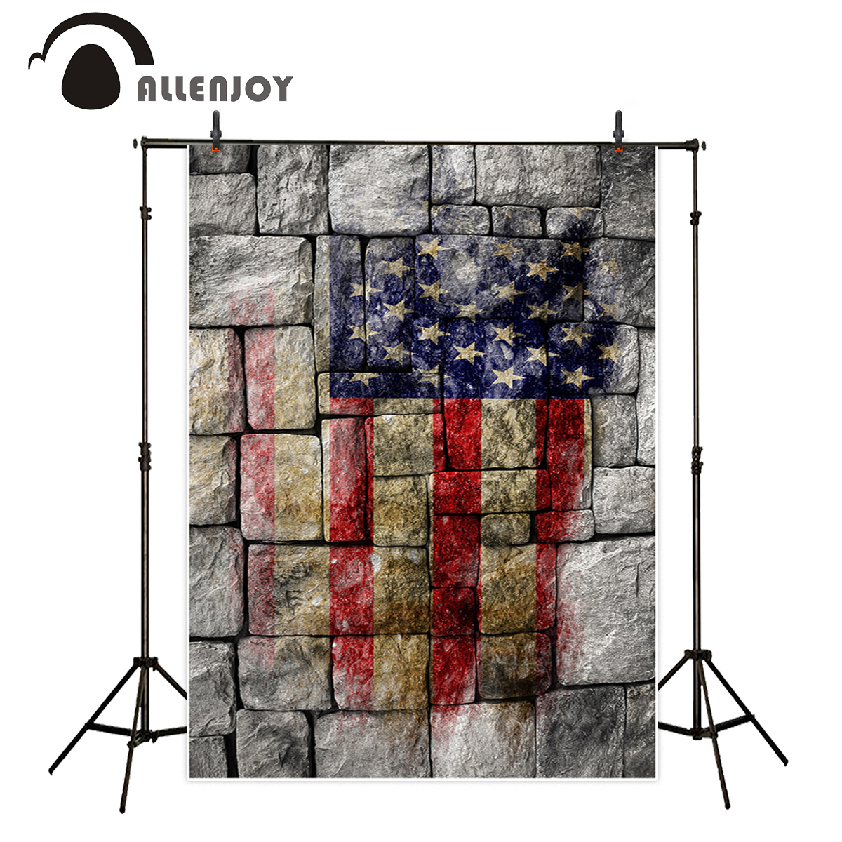 Allenjoy photographic background Stone Spray map United States independence Day vintage Background for photo vinyl backdrops