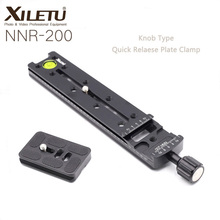 XILETU NNR-200 Aluminum Camera Bracket Lengthened Quick Release Plate Clamp for Arca Swiss Tripod Ball Head Panoramic Shooting xiletu ls 4 handgrip video photography fluid drag hydraulic tripod head and quick release plate for arca swiss manfrotto