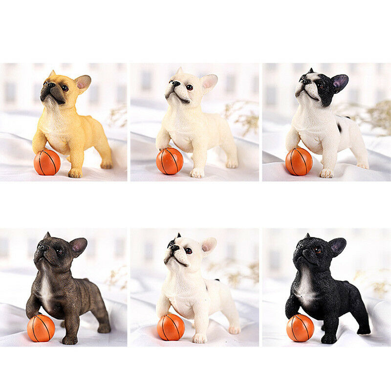 1 PCS French Bulldog Play Ball Pet Animal Figure Model Adult Kids Collection Science Education Toys Gift Home Decor