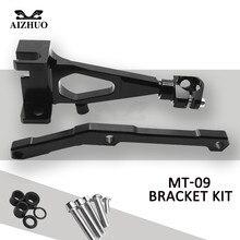 Motorcycle Steering Damper Stabilize Bracket Mount kit For YAMAHA MT09 MT 09 MT-09 FZ 09 2013 2014 2015 2016 недорго, оригинальная цена