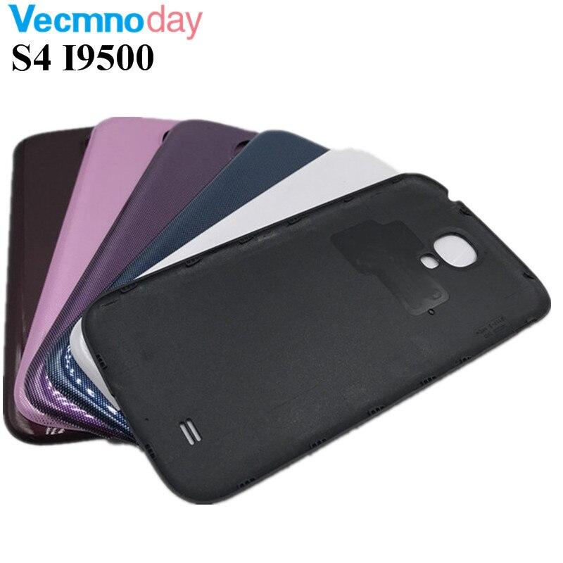 Vecmnoday 1 Pcs Pour Samsung Galaxy S4 i9500 Couverture Arrière de Batterie Arrière Cas Pour Samsung S4 SIV Porte Logement