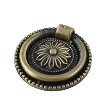 AYHF-Бронзовый Тон Цветочным Узором Металлическое Кольцо Дверные Потяните Ручки Ручки