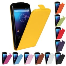 Luxury Genuine Real Leather Case Flip Cover Mobile Phone Accessories Bag Retro Vertical For LG E960 Nexus 4 PS