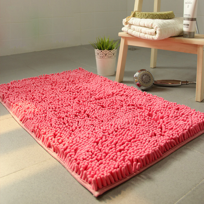 Floor Mat Water Absorption Chenille Bathroom Mat Shoe Rug For ...