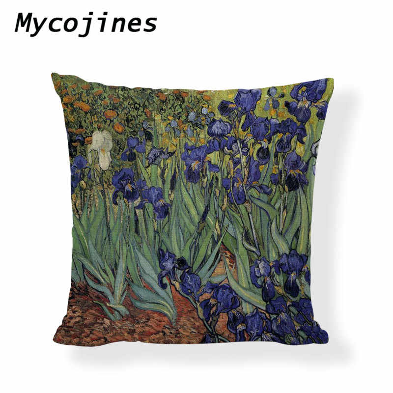 79ddf3f88957b Van Gogh Cushion Cover Painting Decorative Linen 45cm Pillow Covers Star  Moonlight Sunflower Living Room Sofa Throw Pillowcase