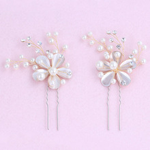 New Cute Hair Pins Elegent Bridal Wedding Hair Accessories For Women Crystal Big Pearl Hair Jewelry Bride Hair Stick C124