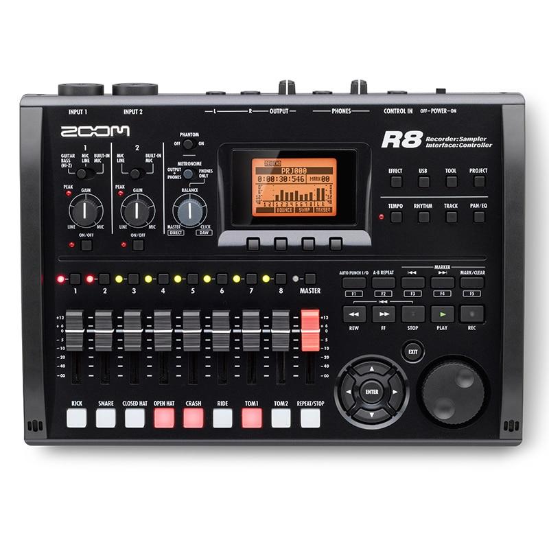 Zoom R8 multitrack recorder 8 track Workstation Recorder Sound Card Effect sampler interface Controller Mixer high