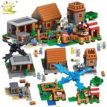 1106pcs My World Village Building Blocks Цифры Совместимые Legoed Minecrafted Brinquedos Образовательные классические игрушки для друзей