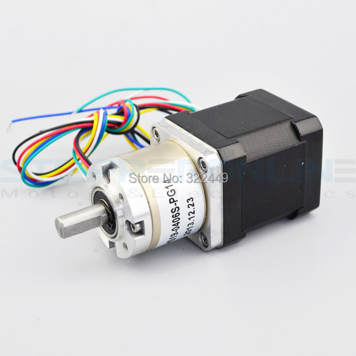 Nema 17 Geared stepper motor Uniporlar planetary reduction gearbox Gear Ratio 14:1 for Uniporlar Stepper Motor 42.3*42.3*83mm