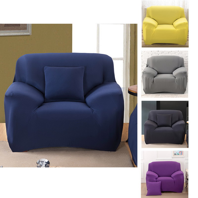 4 Size 5 Color Spandex Stretch Sofa Cover Elasticity Polyester Solid Colors Couch Loveseat Furniture P20 In From Home Garden