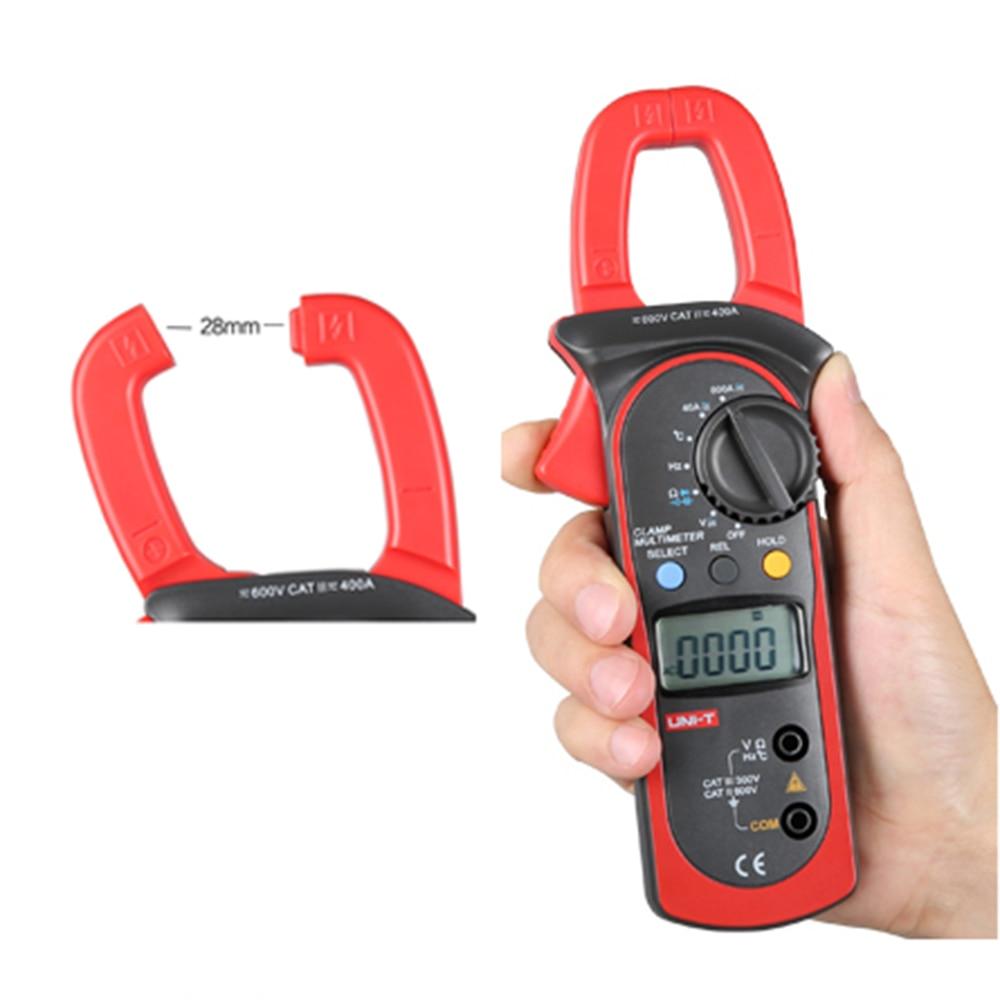 UNI-T UT203 Digital Multimeter  Clamp  Ohm DMM DC AC Current Voltage Meter Tester Voltmeter Ameter 400A unit ut 61e ut61e digital handheld multimeter tester dmm ac dc volt ohm frq