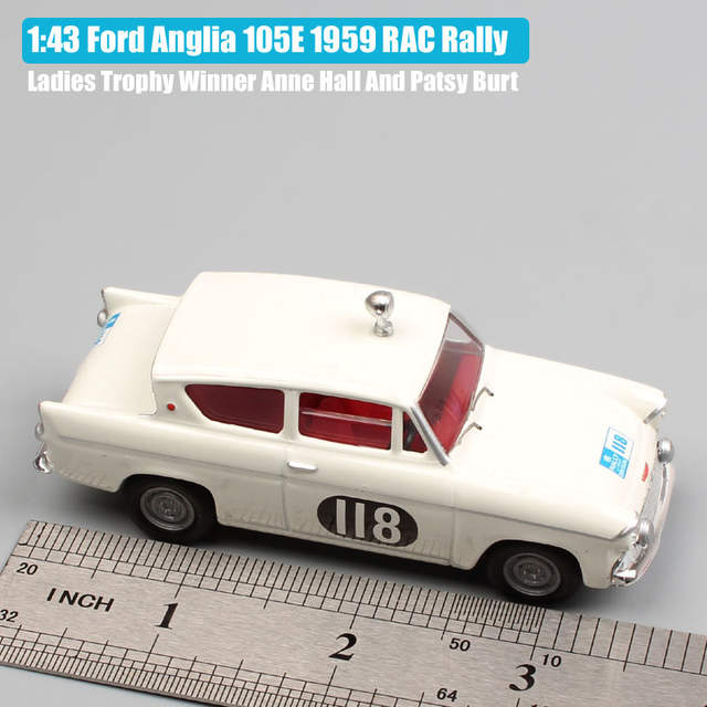 US $30 99 |1/43 Scale Small Brand Corgi Vanguard vintage Ford Anglia 105E  1959 RAC Rally ladies Trophy Winner die cast model race car toys-in  Diecasts