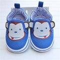 Nueva Primavera Otoño Niño Zapatos Del Bebé Primer Caminante único Mono de la Historieta Zapatos Del Bebé Cochecito de Niño Resbalón-En la Zapatilla de Deporte 0-18 meses