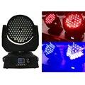 Envío Gratis 108x3 W rgbw LED viga luz de la colada Luzes DJ centralina DMX disco Sound estroboscópica luces de la etapa del proyector