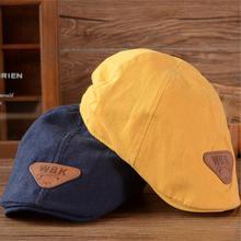 Детский хлопковый берет чепчик унисекс, модные теплые шапки, шапочка для мальчиков и девочек, детская бейсболка, шляпы солнцезащитные для мальчиков