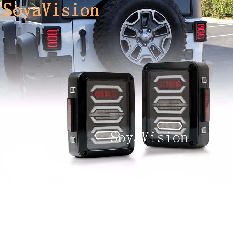 Hot Plug and Play LED Taillight Assembly Reverse Brake Tail Lights With USA European models for