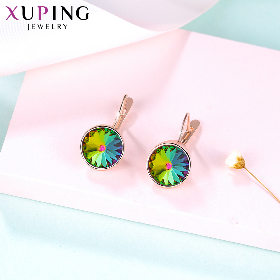 Xuping Jewelry Vintage Design Hoops Earrings Crystals from Swarovski Patry Gifts for Women Girls M86 20454 in Hoop Earrings from Jewelry Accessories