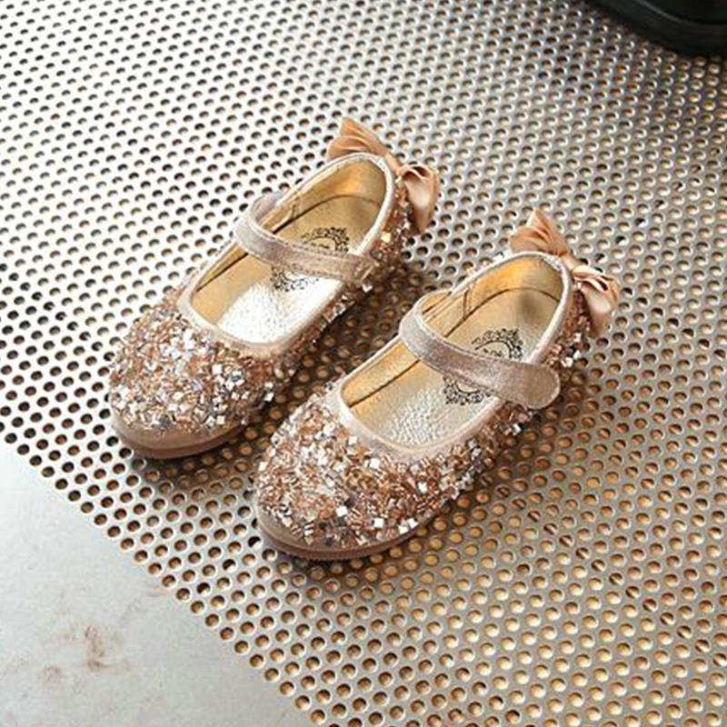 Online Girls Gold Dress Shoes China