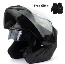 beautiful Motorcycle helmets Double Visors Modular Flip Up helmet DOT approved Full face casque moto racing Motocross helmet