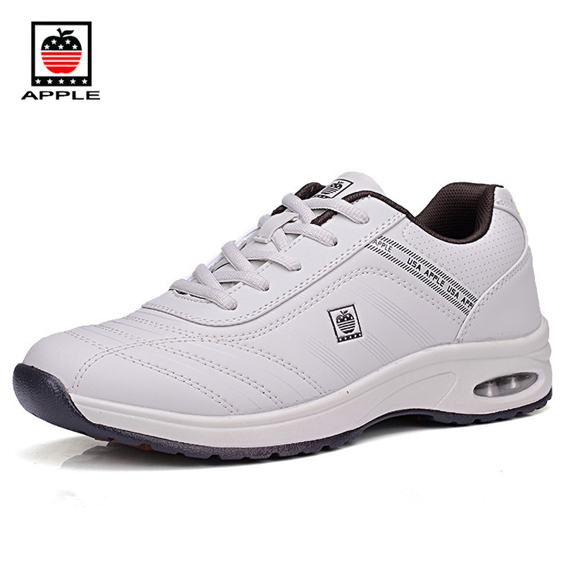 Apple Mens spring autumn leisure travel sport shoes Original quality small air cushion comfortable elevator walking shoes 8818