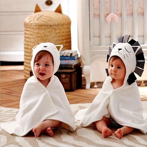 New Soft Cute Cotton Baby Infant Newborn Girls Boys Animal Lion Cat Receiving Blankets Feeding Wipe Cloth