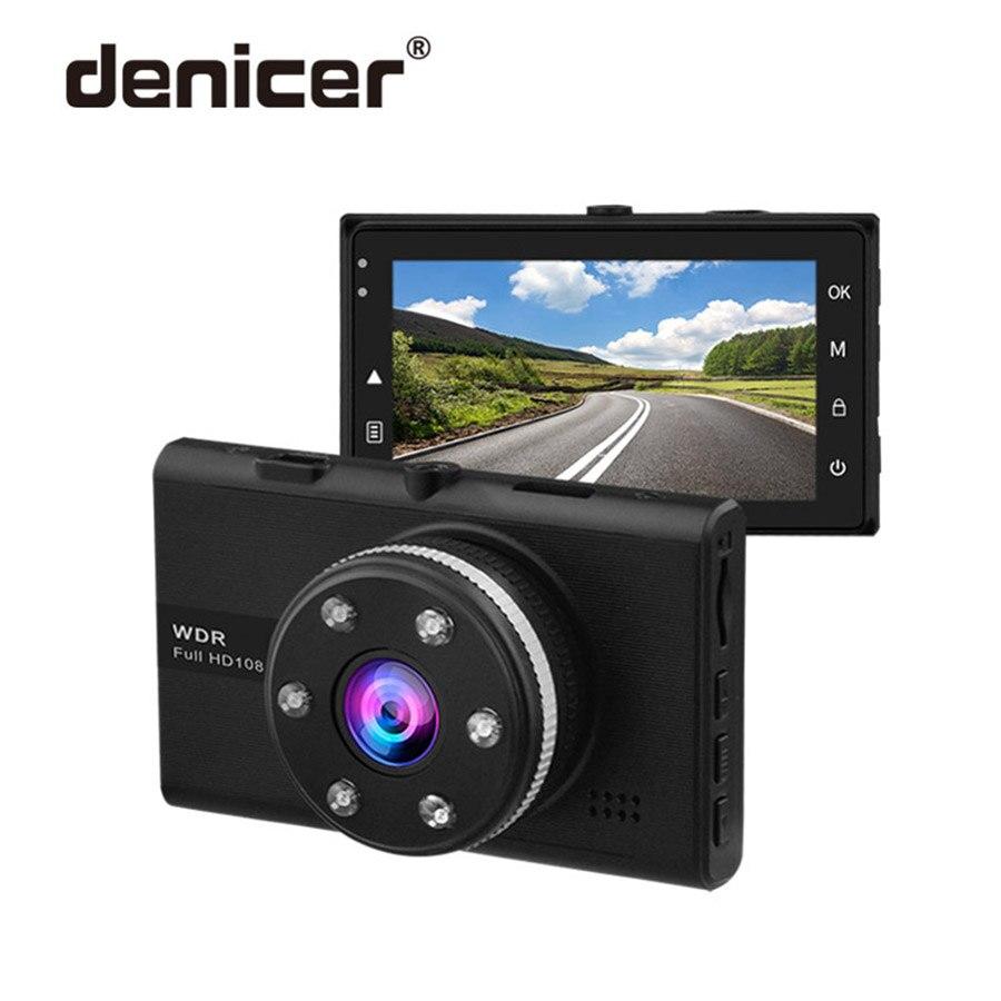 Vision nocturne voiture DVR 6 lumières Full HD 1920x1080 P Carcam 3 pouces écran détecteur de stationnement caméra enregistreur cyclique détection de mouvement