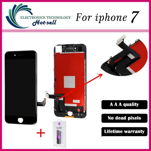 1 PÇS/LOTE AAA Qualidade Teste Um Por um No Dead Pixel LCD para a apple iphone 7 display lcd com tela de toque digitador assembléia
