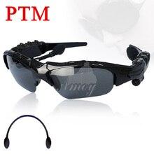 PTM Горячие Продажи SV000323 Bluetooth Беспроводная Гарнитура Спорт Handsfree Солнцезащитные Очки Наушники Наушники с упаковкой
