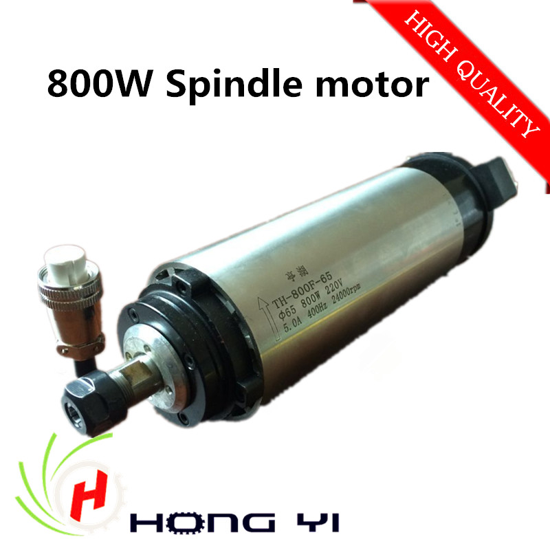 Best prices 0.8KW air cooling spindle motor, 800W air cooled spindle for CNC engraving machine dc110v 500w er11 high speed brush with air cooling spindle motor with power fixed diy engraving machine spindle