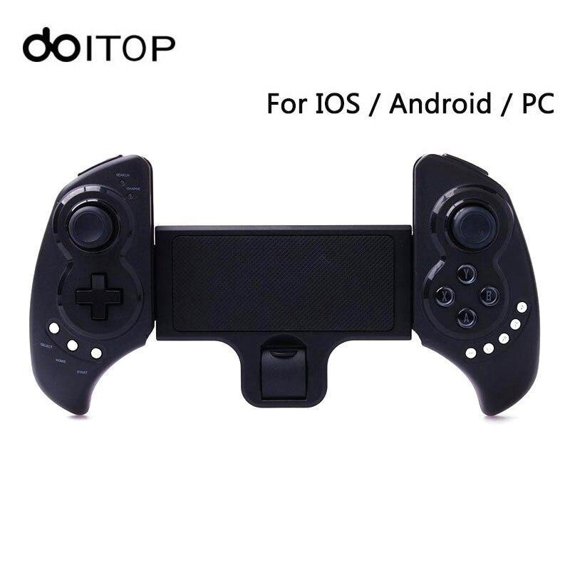 DOITOP Sans Fil BT Jeu Contrôleur Pour Smartphones iOS Android Gamepad pour iPad Extensible Titulaire Stand Sans Fil de Jeu Joystick