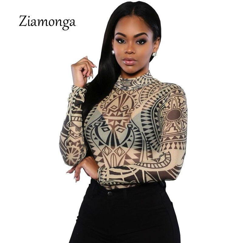 Angemessen 2016 Sommer Frauen Sexy Tribal Tattoo Print Bodysuitoverall Traditionelle Afrikanische Kleidung Mesh Spitze Retro Body Strampler S2552 Farben Sind AuffäLlig