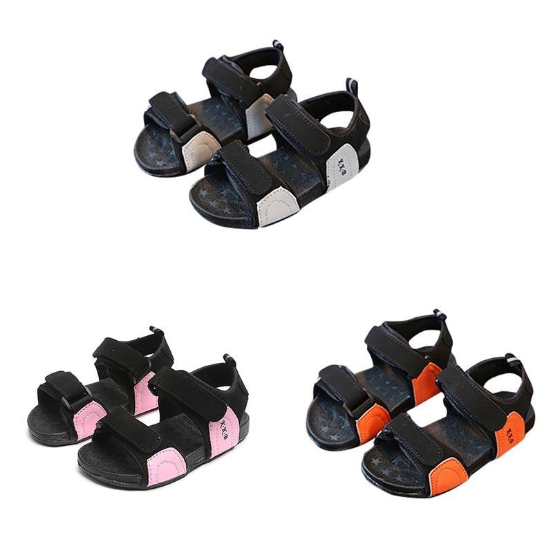 Fashion Shoes For Baby Summer Kids Beach Sandals Boys Girls PU Sandals Soft Slip