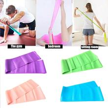 Rubber Muscle Building Resistance Dance Exercise Elastic Band Fitness Yoga Pilates Training Strap Sports Stretch Belt 4 Colors