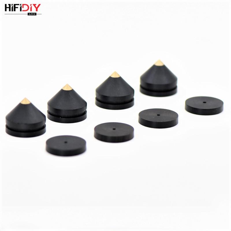HIFIDIY LIVE 4 Sets or 4 PCS speakers Stand Feet Foot Pad natural wood ebony loudspeaker box Spikes Cone Floor Foot Nail M23*20 цена и фото