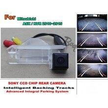 Для Mitsubishi ASX/RVR 2010 ~ 2015 Автомобилей Траектории Интеллектуальные Треков Заднего Вида HD CCD Ночного Видения Автомобильная камера Заднего вида камера