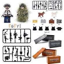 Military LEGOINGLY Weapon box WW2 Gun Weapon Bricks Jedi survival Eating chicken lead building blocks figures toys gift children