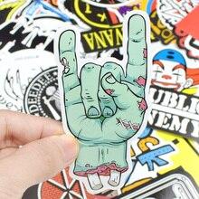 100 PCS Rock Sticker Music Retro Band Graffiti JDM Stickers to DIY Guitar Motorcycle Laptop Luggage Skateboard Car Snowboard